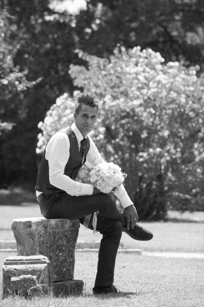 lo sposo a villa Redenta